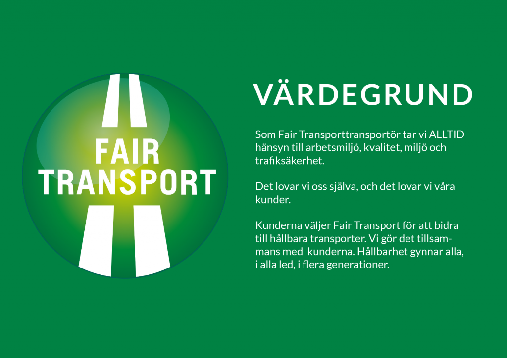 fair transport värdegrund